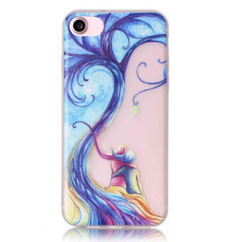 Best For iPhone 7 TPU Silica Night Luminous Phone Back Case - TRANSPARENT  Mobile