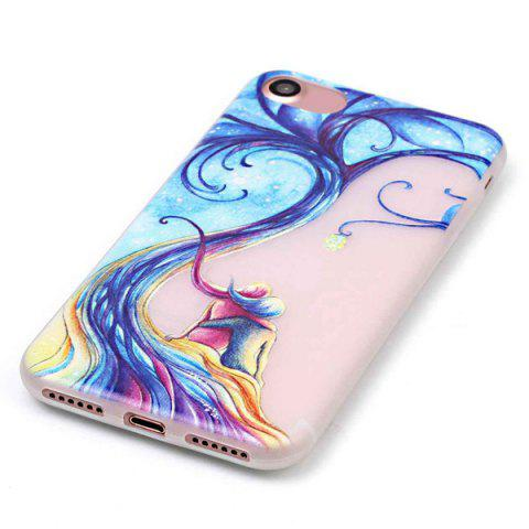 Outfits For iPhone 7 TPU Silica Night Luminous Phone Back Case - TRANSPARENT  Mobile
