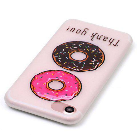 Trendy Doughnut Pattern Soft TPU Lucency Noctilucent Phone Case For iPhone 7 - TRANSPARENT  Mobile