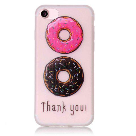 Discount Doughnut Pattern Soft TPU Lucency Noctilucent Phone Case For iPhone 7 - TRANSPARENT  Mobile