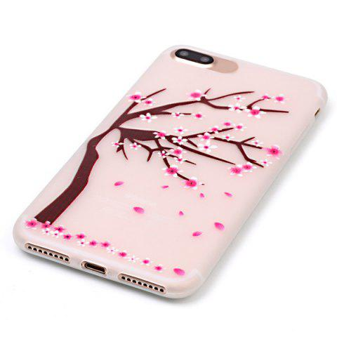 Trendy For iPhone 7 Plus TPU Silica Floral Luminous Phone Back Case - TRANSPARENT  Mobile