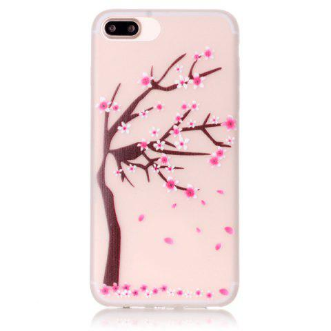 Outfits For iPhone 7 Plus TPU Silica Floral Luminous Phone Back Case - TRANSPARENT  Mobile