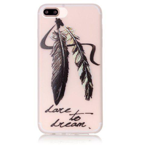 Trendy Feather Night Luminous TPU Phone Back Case For iPhone 7 Plus
