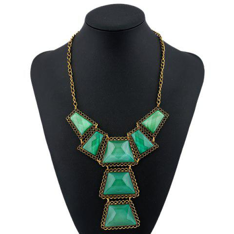 Best Vintage Geometric Resin Necklace