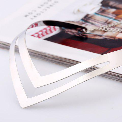 New V Shaped Alloy Necklace - SILVER  Mobile