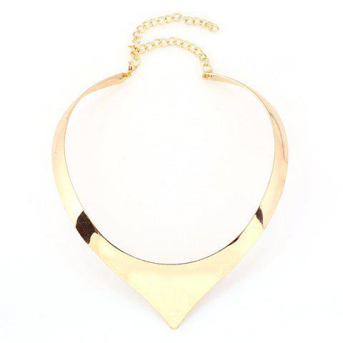 New Punk Geometry Alloy Necklace GOLDEN