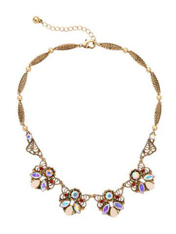 New Artificial Gem Geometric Statement Necklace