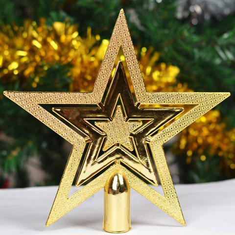 2PCS Festival Party Supplies Christmas Tree Stars Decoration - Golden - S