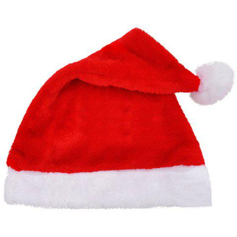 Christmas Party Supplies Plush Senta Claus Hat Decoration - RED
