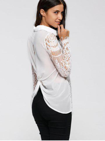 Shop Lace Spliced Shirt