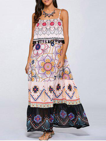 Store Off The Shoulder Layered Maxi Dress