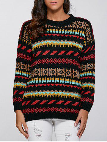 Fancy Christmas Geometric Pullover Knit Sweater