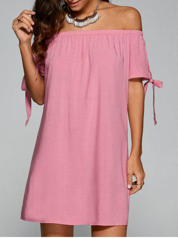 Discount Tie Sleeve Off-The-Shoulder Dress