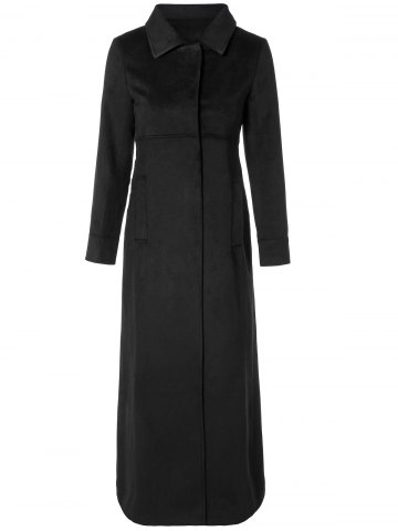 Chic Turn Down Collar Fitted Longline Coat