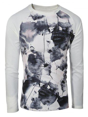 Trendy Splatter Paint Printed Raglan Sleeve Sweatshirt