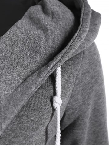 New Casual Style Solid Color Long Sleeves Hoodie For Women - DEEP GRAY M Mobile
