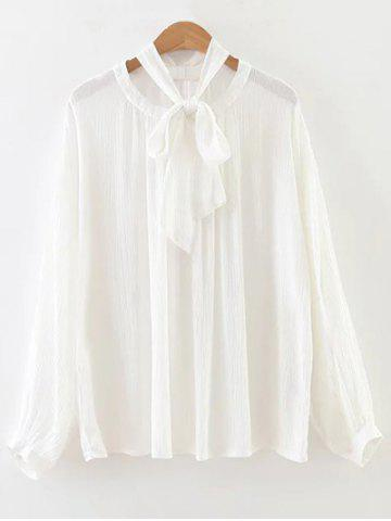 Best Bowknot Loose OL Blouse