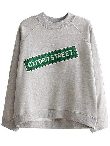 Trendy Letter Patched Loose Sweatshirt
