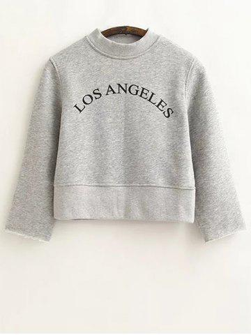 Hot Loose Letter Cropped Sweatshirt