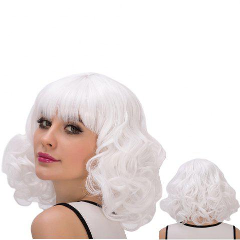 Outfits Cosplay Synthetic Faddish Short Full Bang Curly Wig
