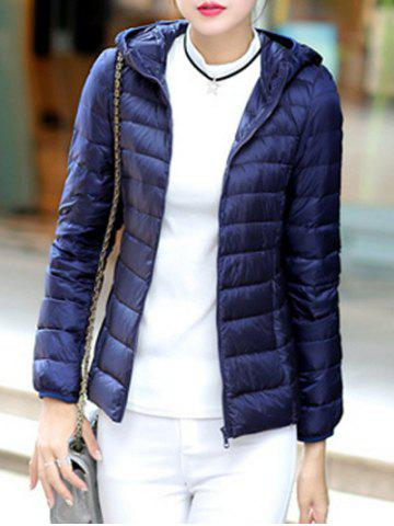 Chic Hooded Fitted Down Jacket