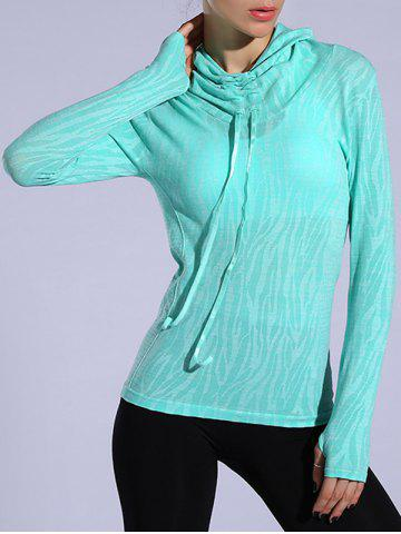 Heathered Dry-Quick Drawstring Hoodie Vert clair M