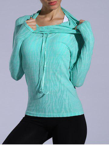 New Dry-Quick Heathered Drawstring Hoodie - LIGHT GREEN M Mobile