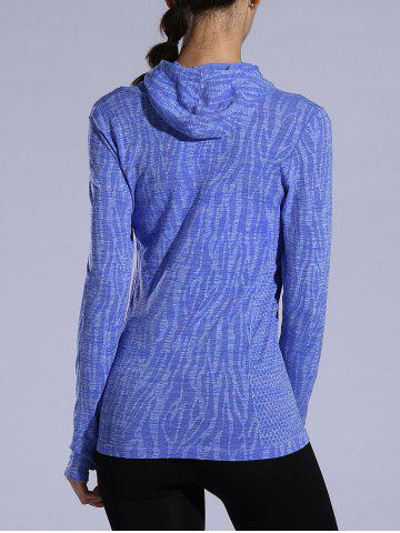 Store Dry-Quick Heathered Drawstring Hoodie - L PURPLE Mobile