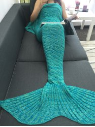 Bedroom Decor Hollow Out Crochet Knit Mermaid Blanket