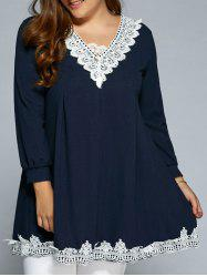 Baggy Lace Spliced Blouse