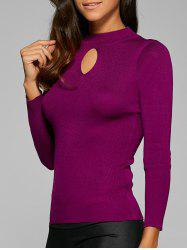 Elastic Ribbed Hollow Out Pullover -