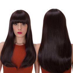 Long Full Bang Tail Adduction Stunning Synthetic Wig