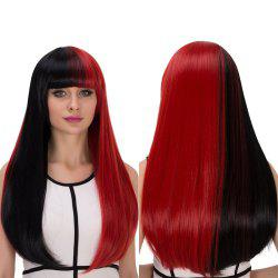 Double Color Long Full Bang Tail Adduction Cosplay Synthetic Wig