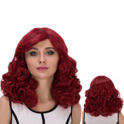Towheaded Medium Side Bang Wavy Cosplay Synthetic Wig