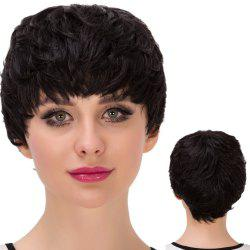 Ultrashort Layered Full Bang Straight Synthetic Wig
