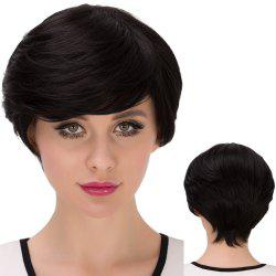 Ultrashort Shaggy Side Bang Straight Synthetic Wig