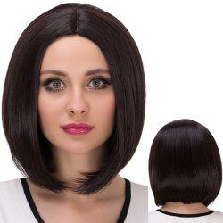 Short Centre Parting Straight Bob Synthetic Wig