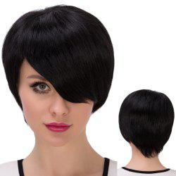 Ultrashort Side Parting Straight Synthetic Wig