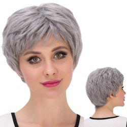 Short Shaggy Oblique Bang Synthetic Wig