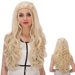 Long Wavy with Braids High Temperature Fiber Wig -