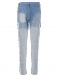 Lace Patchwork Pencil Jeans -
