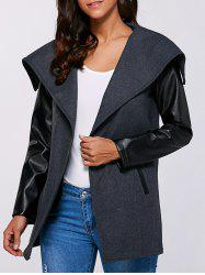 Autumn PU Sleeve Pocket Jacket