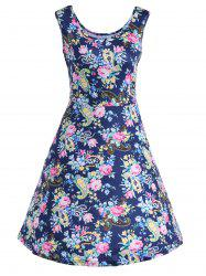 Floral Sleeveless Fit and Flare Dress -
