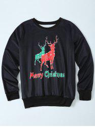 Fawn Christmas Pullover Sweatshirt - BLACK L