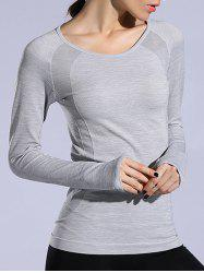 T-shirt sportif Heathered Dry-rapide - Gris Clair L