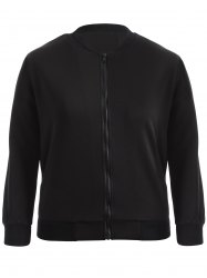 Plus Size Bomber Jacket -