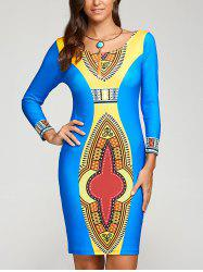 Totem Print Bodycon Dress
