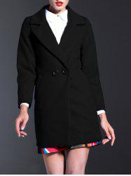 Lapel Walker Wool Blend Coat -