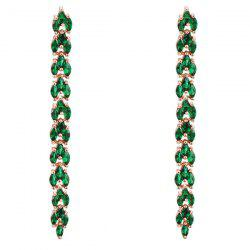 Pair of Rhinestone Wheat Earrings
