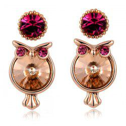 2 Pairs Cartoon Owl Stud Earrings